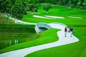 Panorama of golf Vietnam