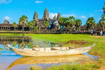Along Mekong on cruise Angkor Saigon