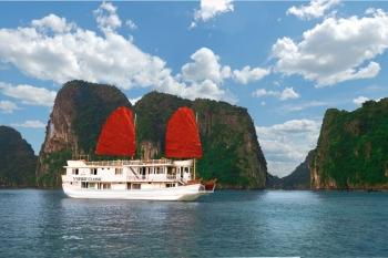 Halong bay on V'spirit classic cruise